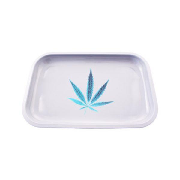 Blue Leaf Rolling Tray